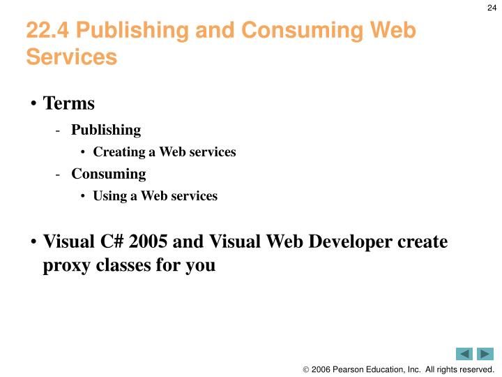 22.4 Publishing and Consuming Web Services