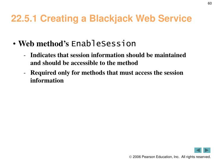 22.5.1 Creating a Blackjack Web Service