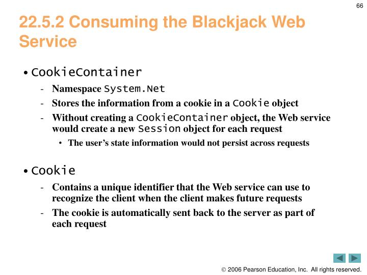 22.5.2 Consuming the Blackjack Web Service