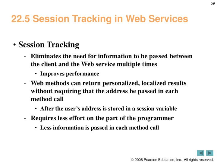 22.5 Session Tracking in Web Services