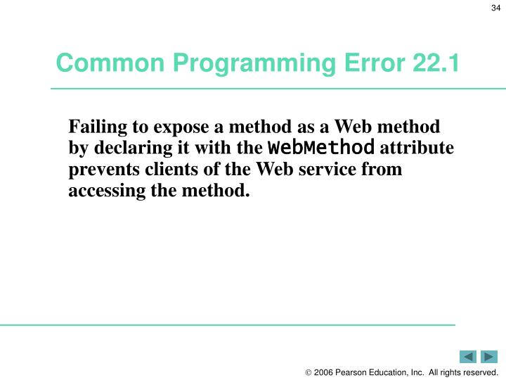 Common Programming Error 22.1