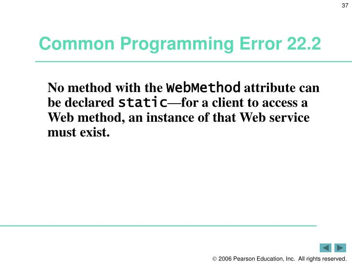 Common Programming Error 22.2