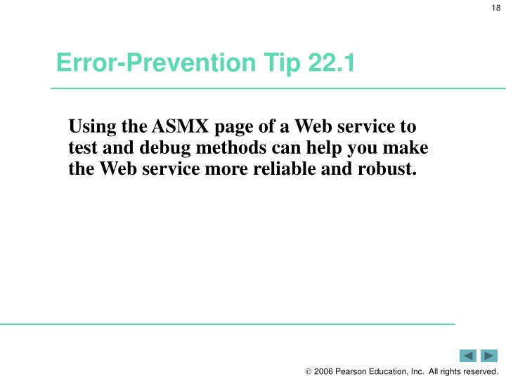 Error-Prevention Tip 22.1