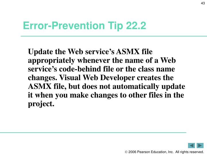 Error-Prevention Tip 22.2