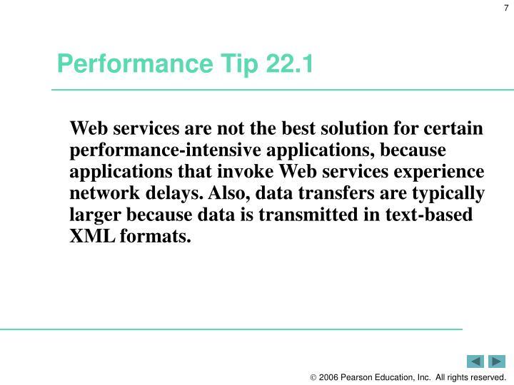 Performance Tip 22.1