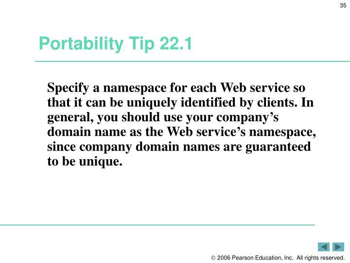 Portability Tip 22.1