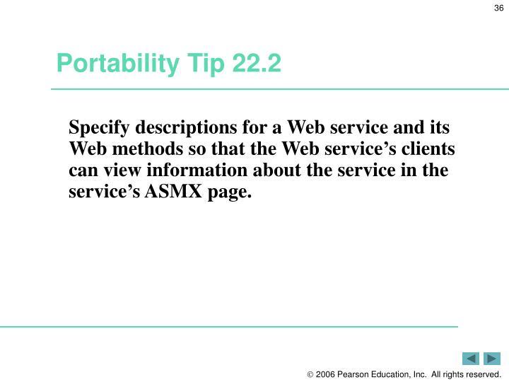 Portability Tip 22.2