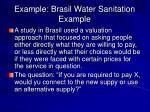 example brasil water sanitation example