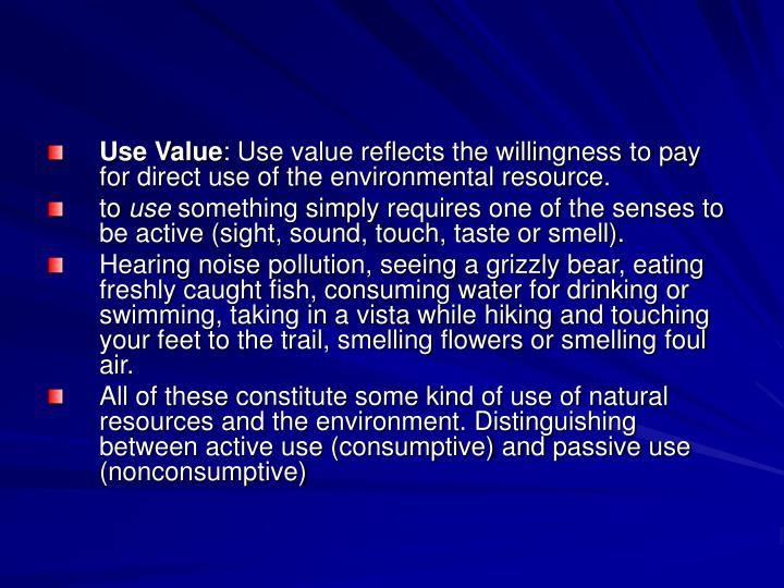 Use Value