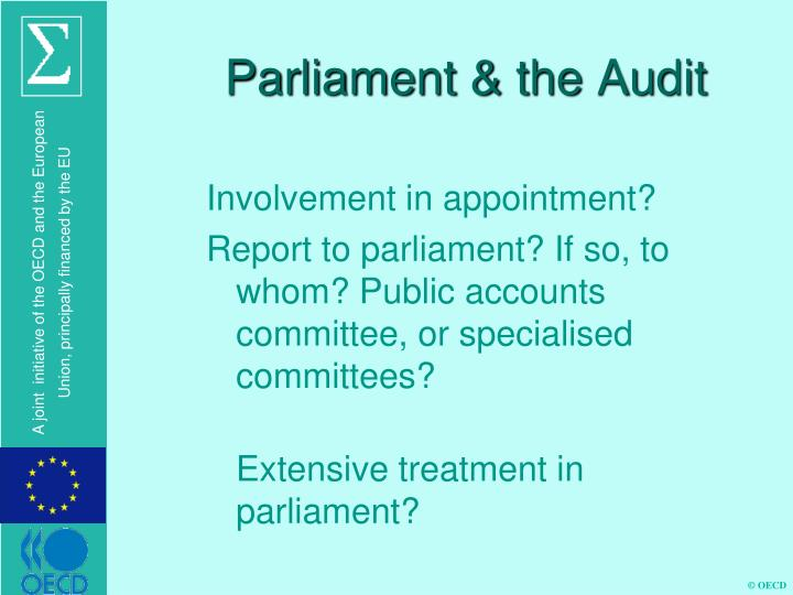 Parliament & the Audit