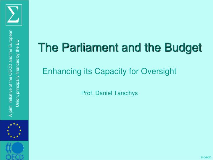 The parliament and the budget