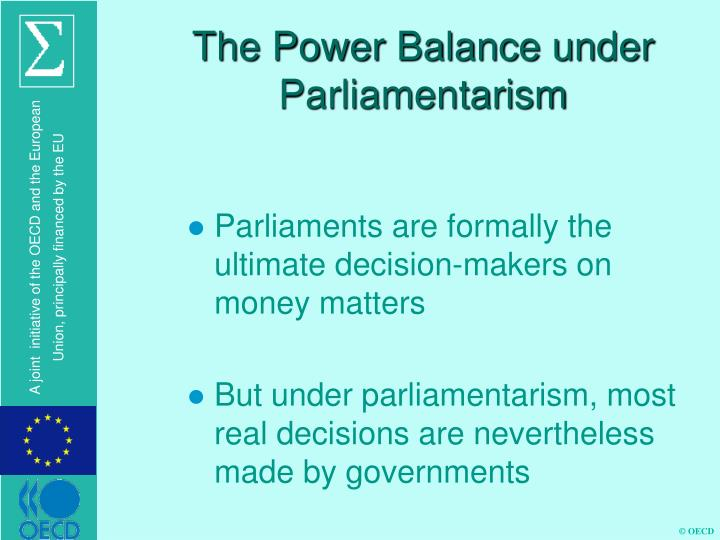 The Power Balance under Parliamentarism