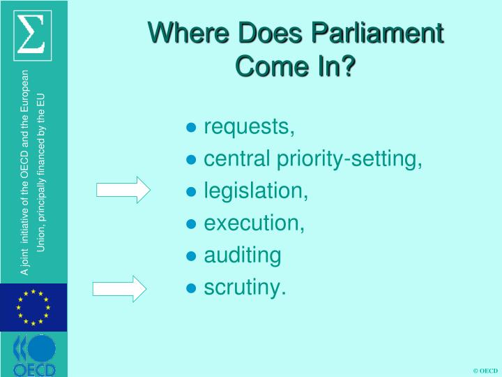 Where Does Parliament Come In?