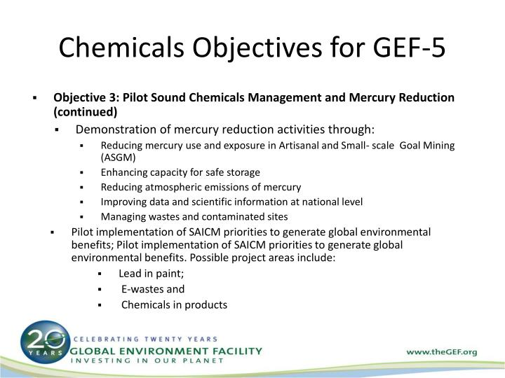 Chemicals Objectives for GEF-5