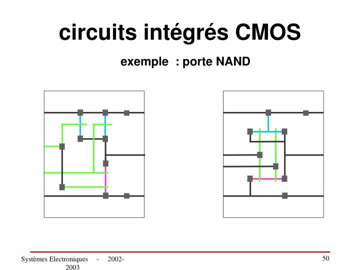 circuits intégrés CMOS