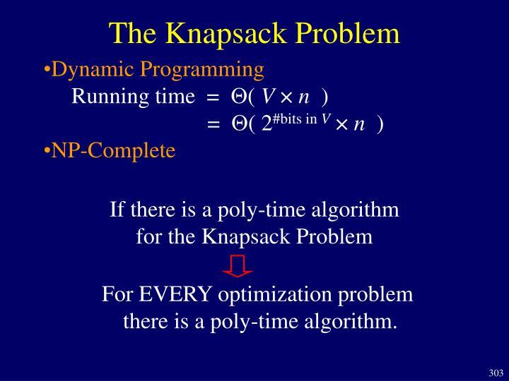 The Knapsack Problem