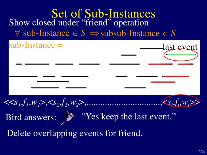 Set of Sub-Instances