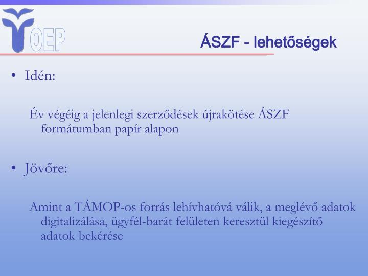 ÁSZF - lehetőségek
