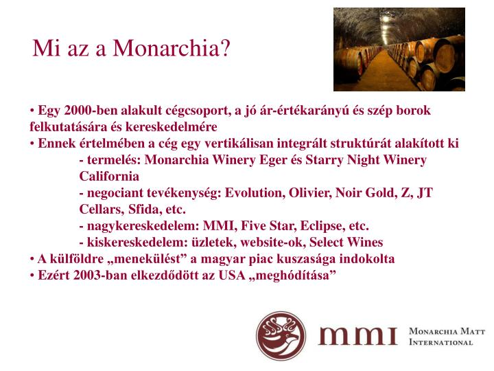 Mi az a Monarchia?