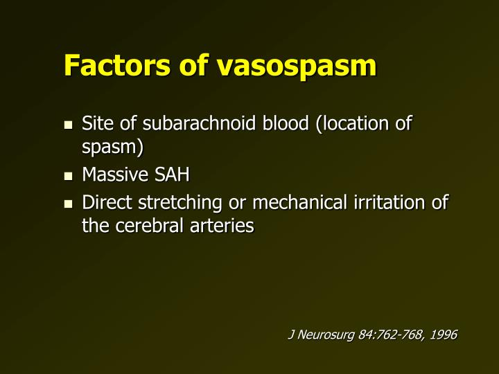 Factors of vasospasm