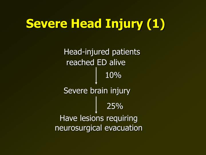 Severe head injury 1
