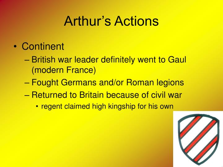 Arthur's Actions
