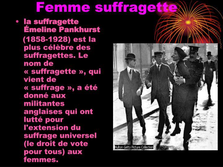 Femme suffragette