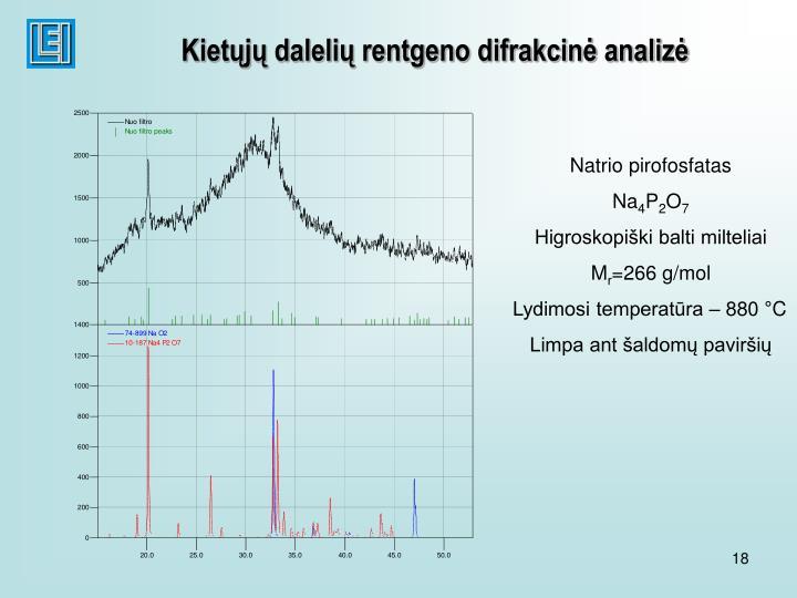 Kietųjų dalelių rentgeno difrakcinė analizė
