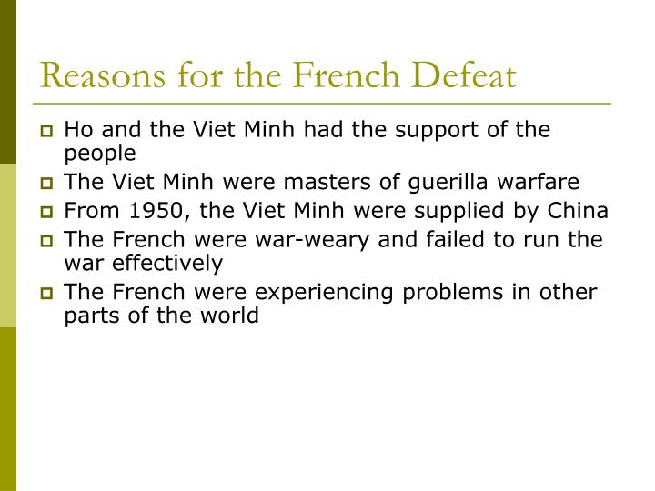 Reasons for the French Defeat