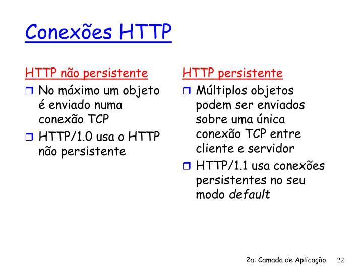 HTTP não persistente