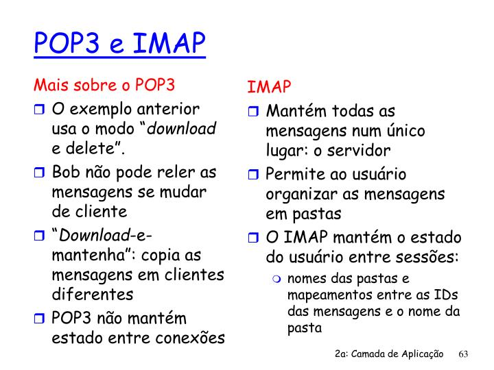 Mais sobre o POP3
