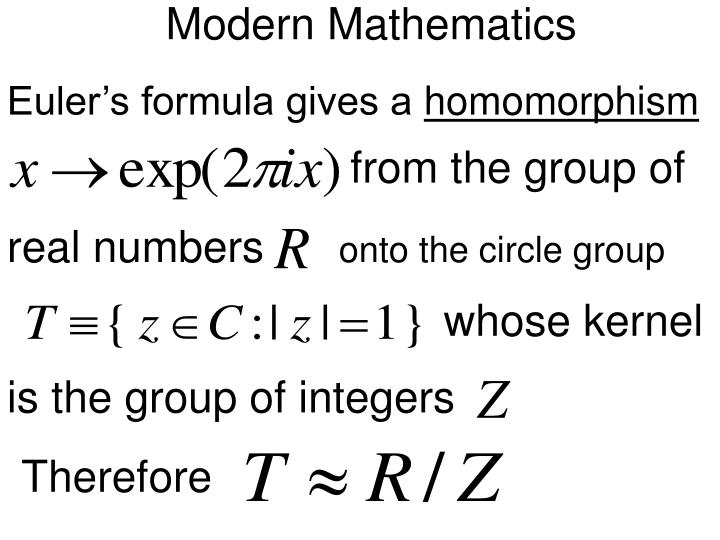 Modern Mathematics