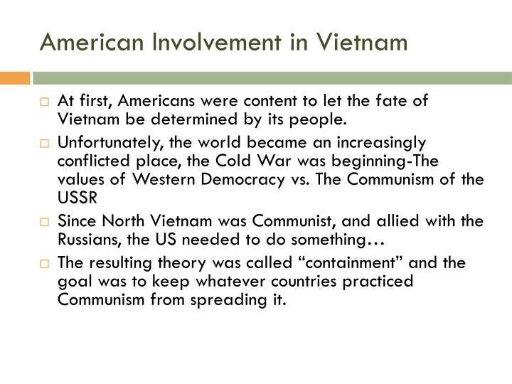 American Involvement in Vietnam