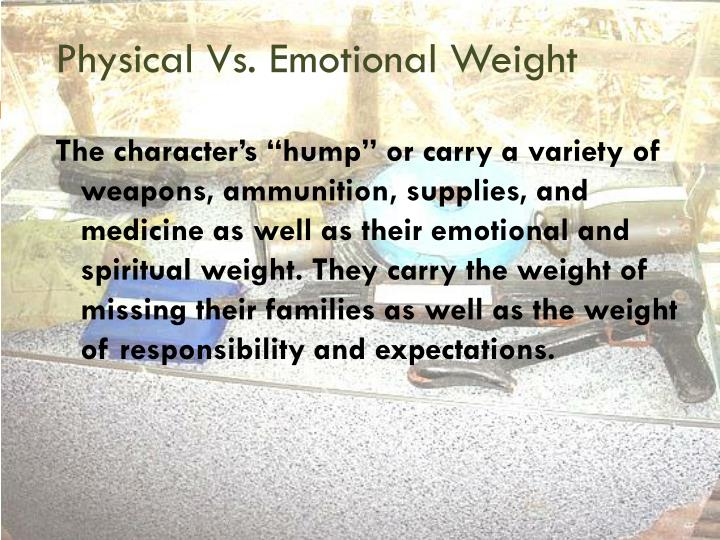 Physical Vs. Emotional Weight