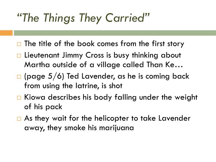 """The Things They Carried"""