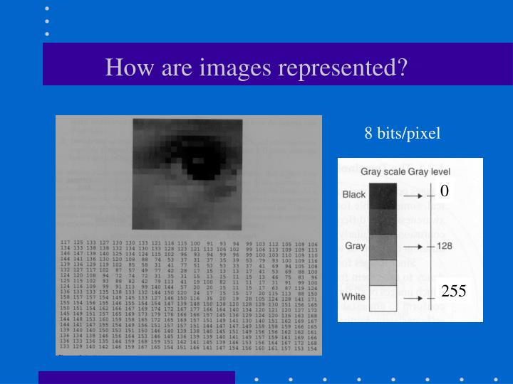 How are images represented