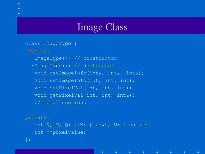 Image Class