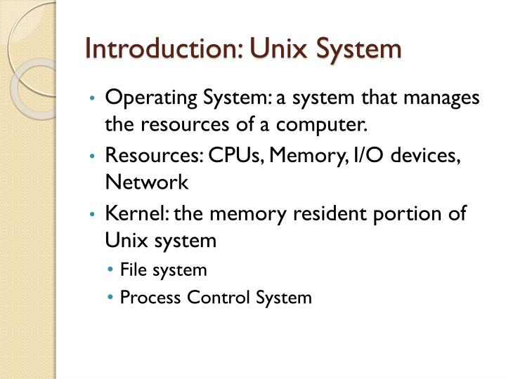 Introduction unix system