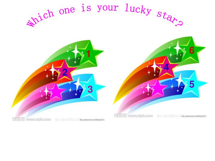 Which one is your lucky star?