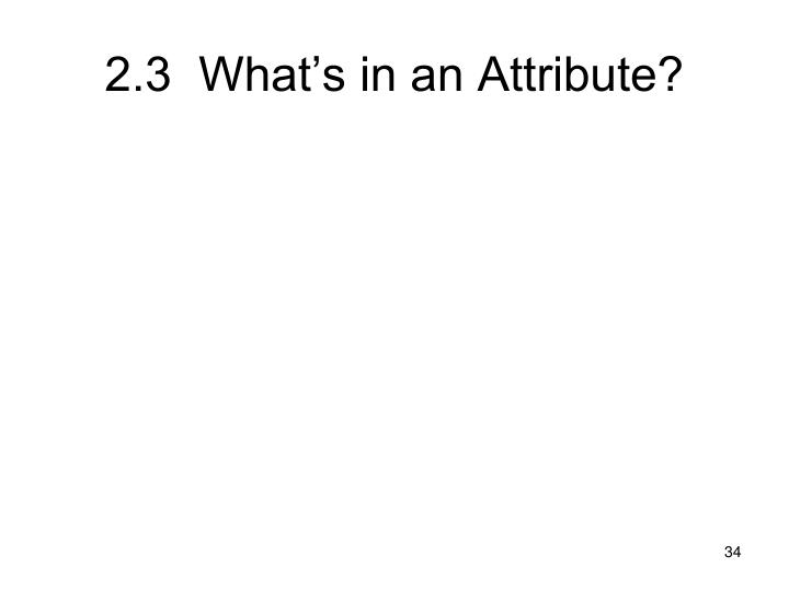 2.3  What's in an Attribute?