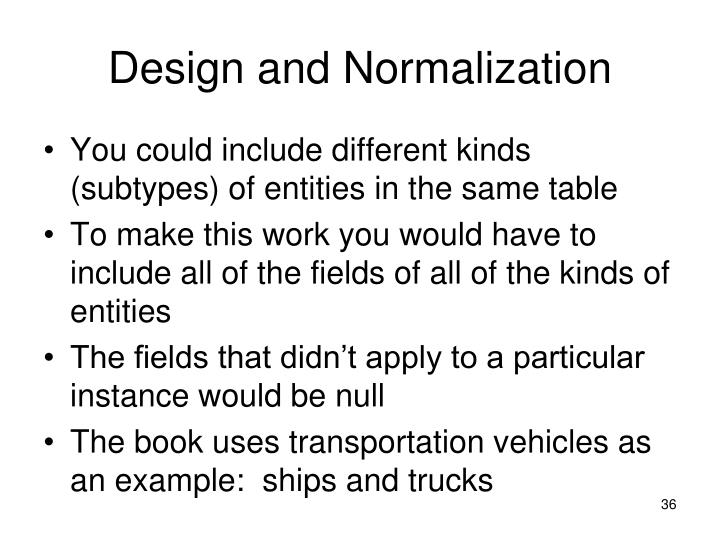 Design and Normalization