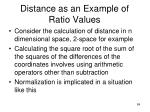 distance as an example of ratio values