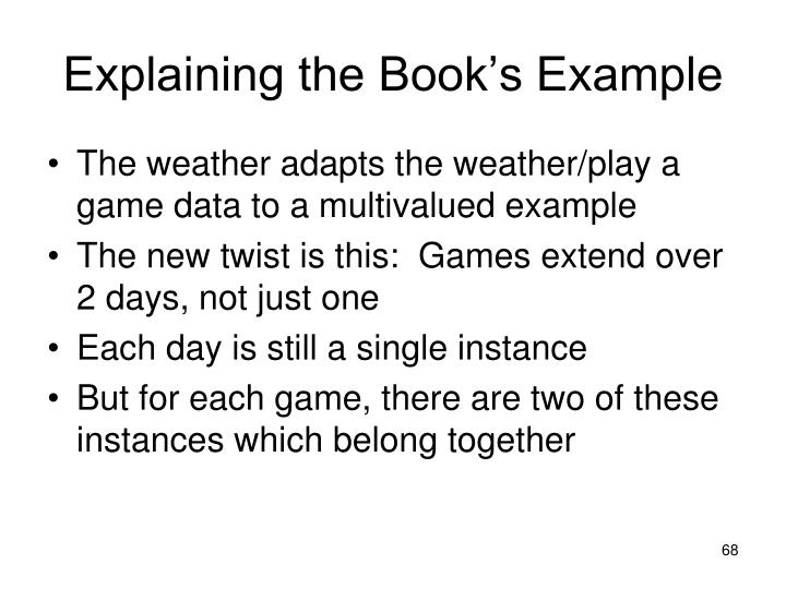 Explaining the Book's Example