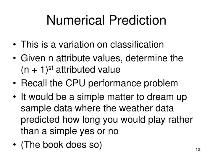 Numerical Prediction