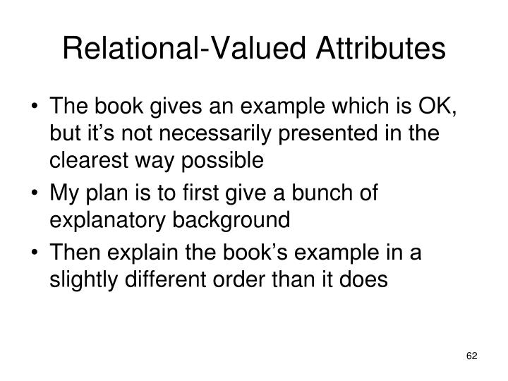 Relational-Valued Attributes