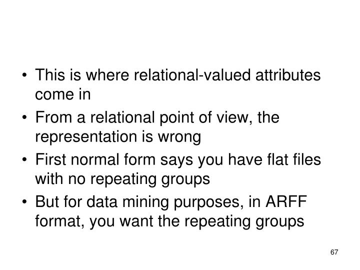 This is where relational-valued attributes come in