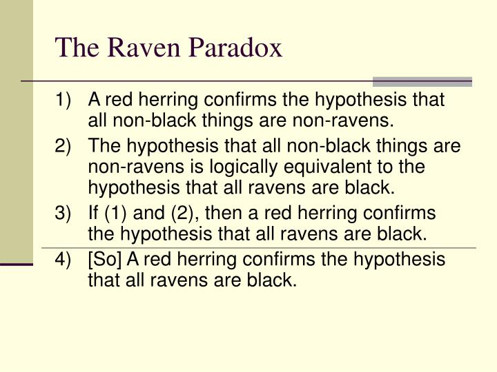 The raven paradox