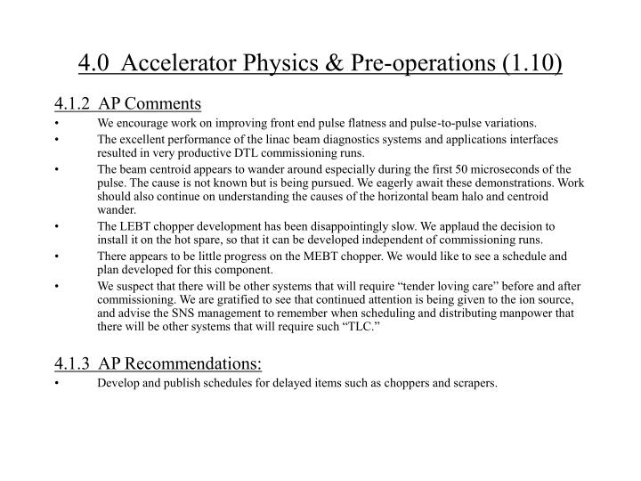 4 0 accelerator physics pre operations 1 101
