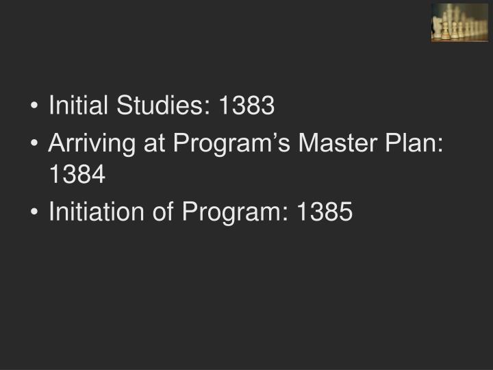Initial Studies: 1383