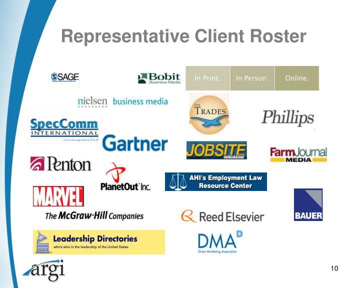 Representative Client Roster
